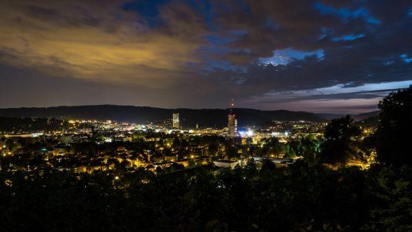 Winterthur bei Nacht